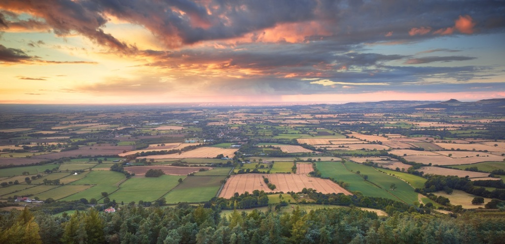 Stokesley and Villages area from Hasty Bank  Photo credit: Joe Cornish